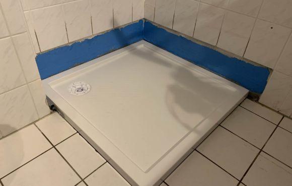 Umbau Duschbecken auf Fußbodenniveau